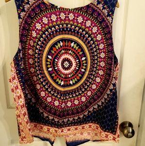 Colorful tank blouse